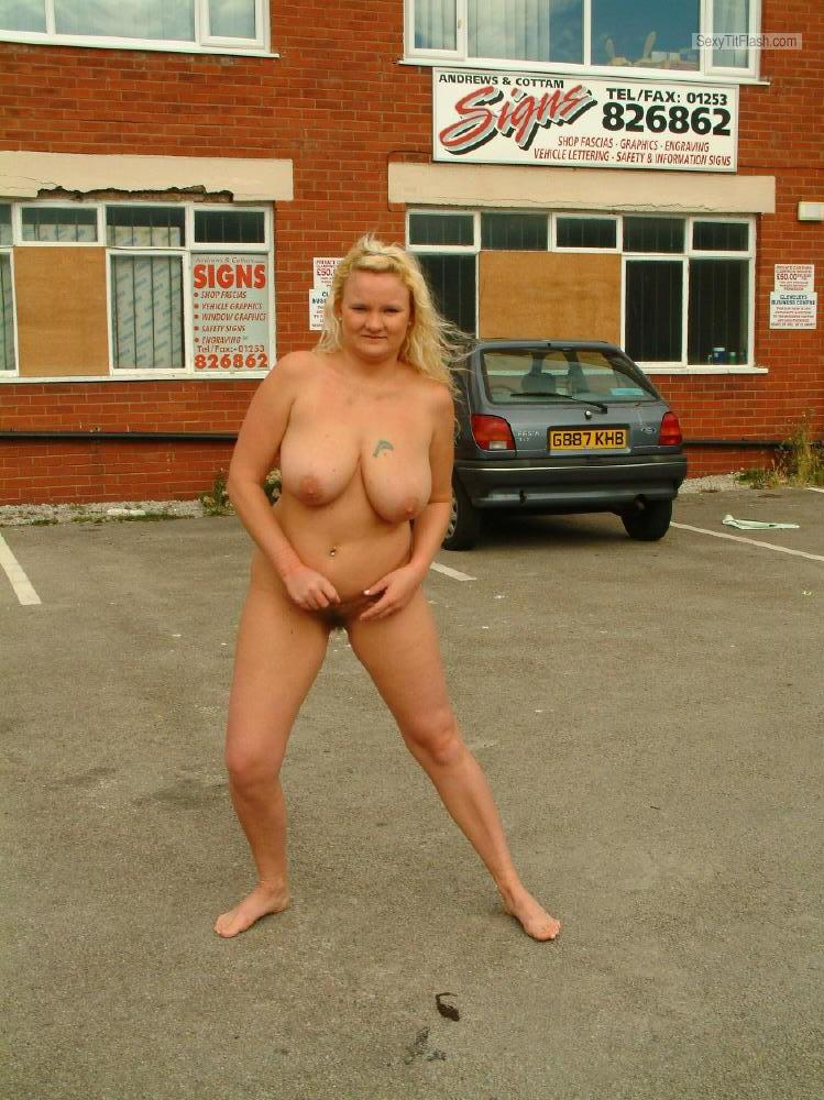 Tit Flash: My Very Big Tits - Topless Hayley from United Kingdom