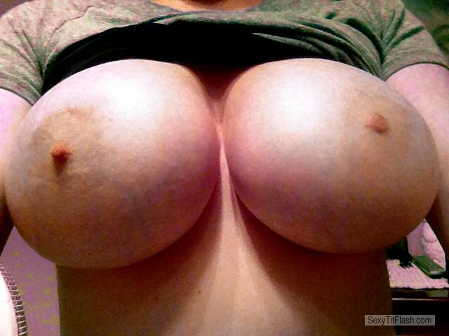 Tit Flash: My Very Big Tits (Selfie) - Kelly from United States