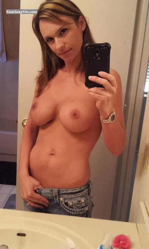 Medium Tits Of My Wife Topless Selfie by Racheal