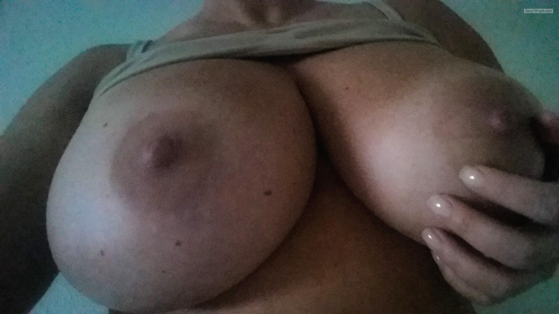 Very big Tits Of My Wife Selfie by Texas Girl