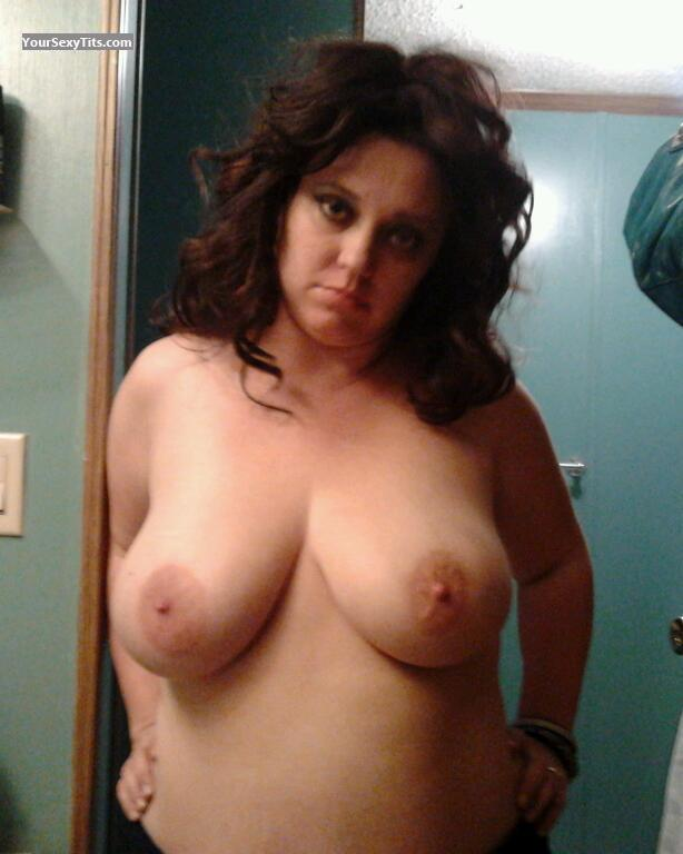 Tit Flash: My Very Big Tits - Topless Heather from United States