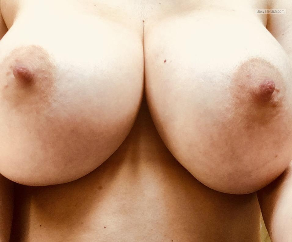 Tit Flash: My Very Big Tits (Selfie) - Shy Anon from United Kingdom