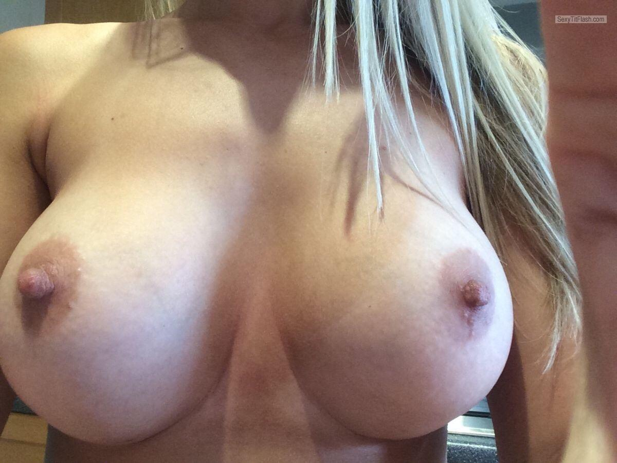 Very big Tits Of My Girlfriend Selfie by C