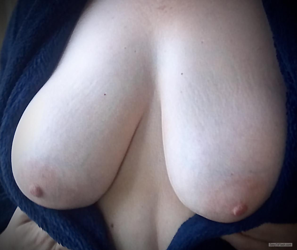 Tit Flash: Wife's Very Big Tits - My Wife's Big Beautiful , from United States