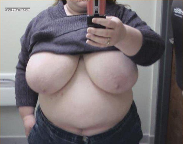 Tit Flash: My Very Big Tits (Selfie) - Mrs. BushWhacker from United States