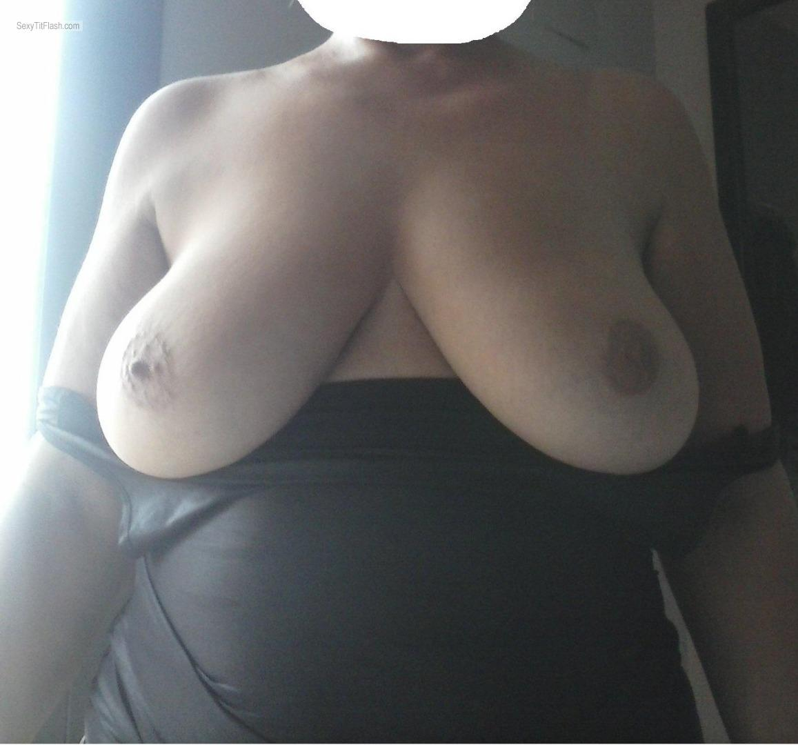 Tit Flash: Wife's Very Big Tits - Shiva from Spain
