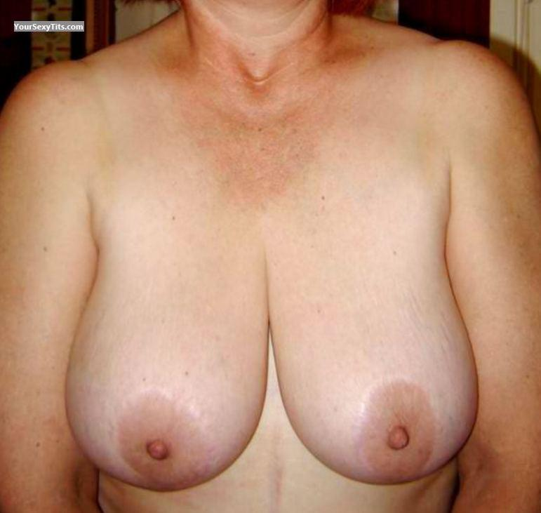 Tit Flash: Wife's Very Big Tits - Pearl from South Africa