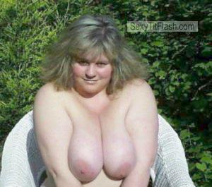 Tit Flash: My Very Big Tits - Topless Big Tits from United Kingdom