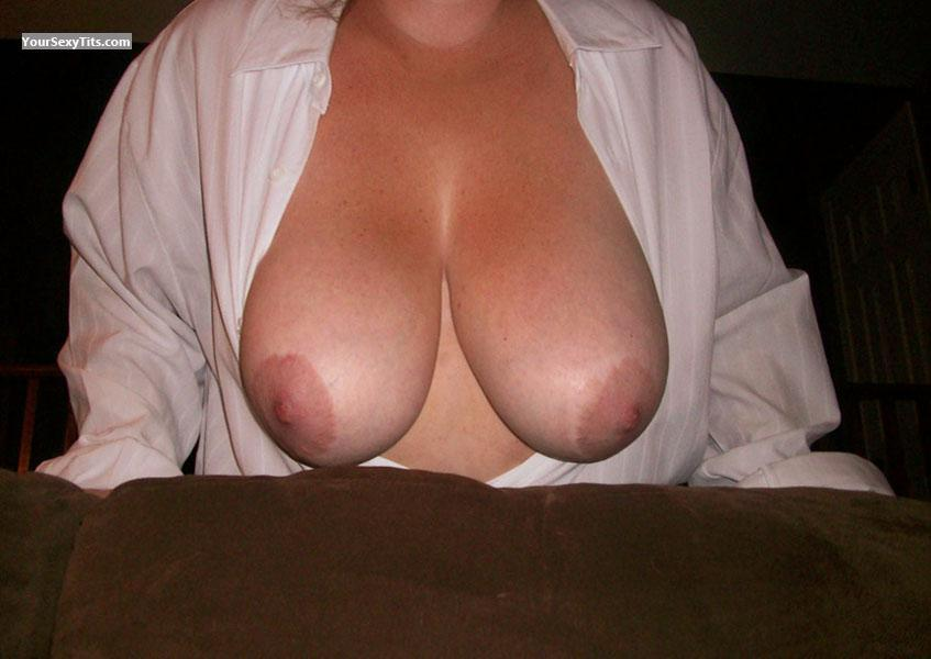 Tit Flash: Wife's Very Big Tits - Mrs Surprise from United States