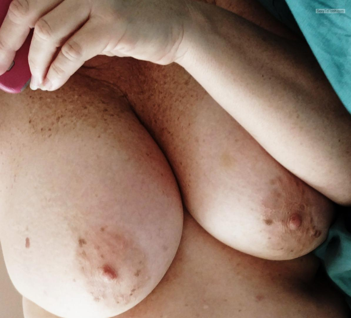 Tit Flash: My Very Big Tits (Selfie) - Baby-G from United States