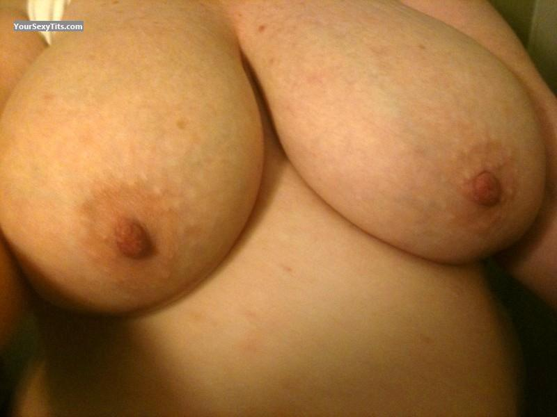 Tit Flash: My Very Big Tits (Selfie) - Red from United States