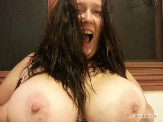 Tit Flash: Wife's Very Big Tits - Topless Maryanne from Australia