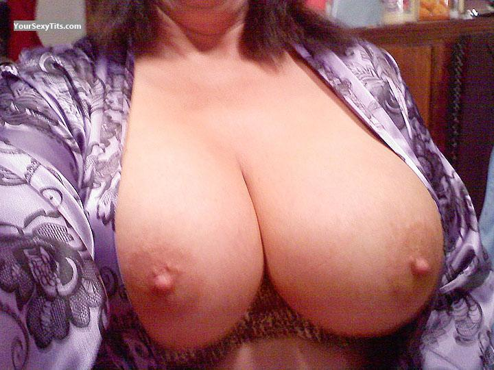 Tit Flash: My Very Big Tits (Selfie) - Newsphotodudette1960 from United States