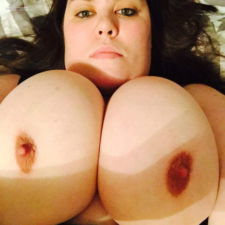 Tit Flash: My Very Big Tits - Topless Boom from United States