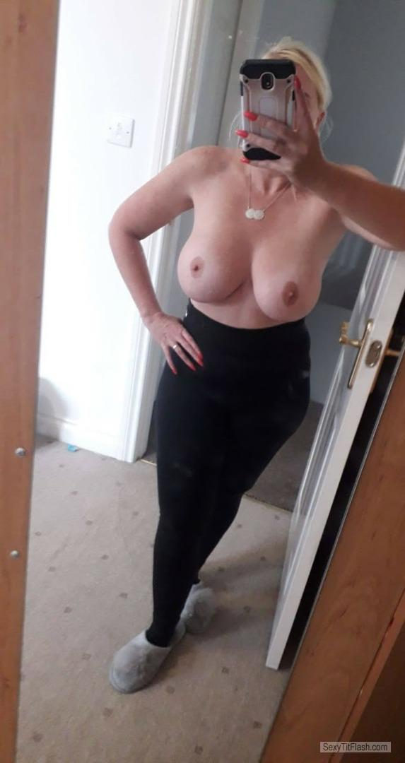 Tit Flash: My Very Big Tits (Selfie) - Horny Housewife from United Kingdom