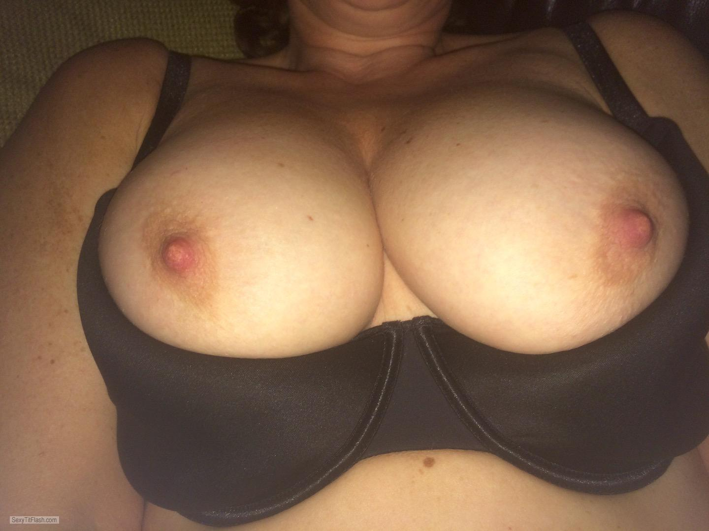 Tit Flash: My Tanlined Big Tits - Kik Afternoondelight1974 from CanadaPierced Nipples