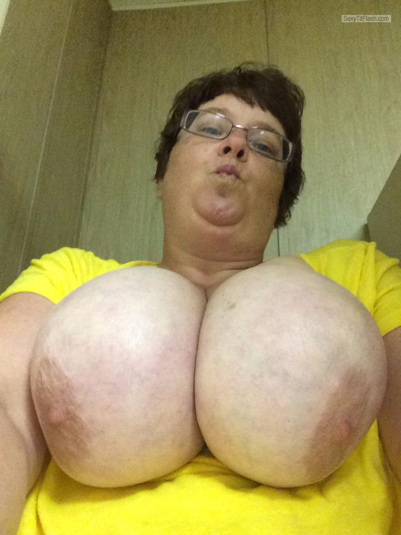 My Very big Tits Topless Selfie by Candy