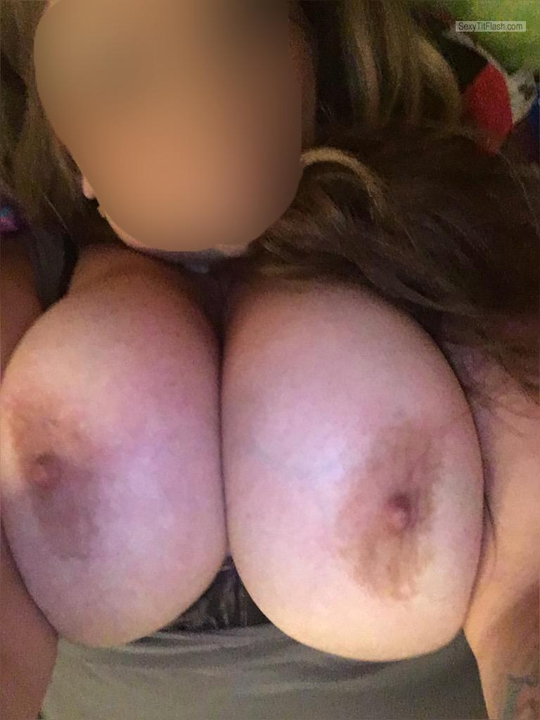 My Very big Tits Topless Selfie by MzDDD