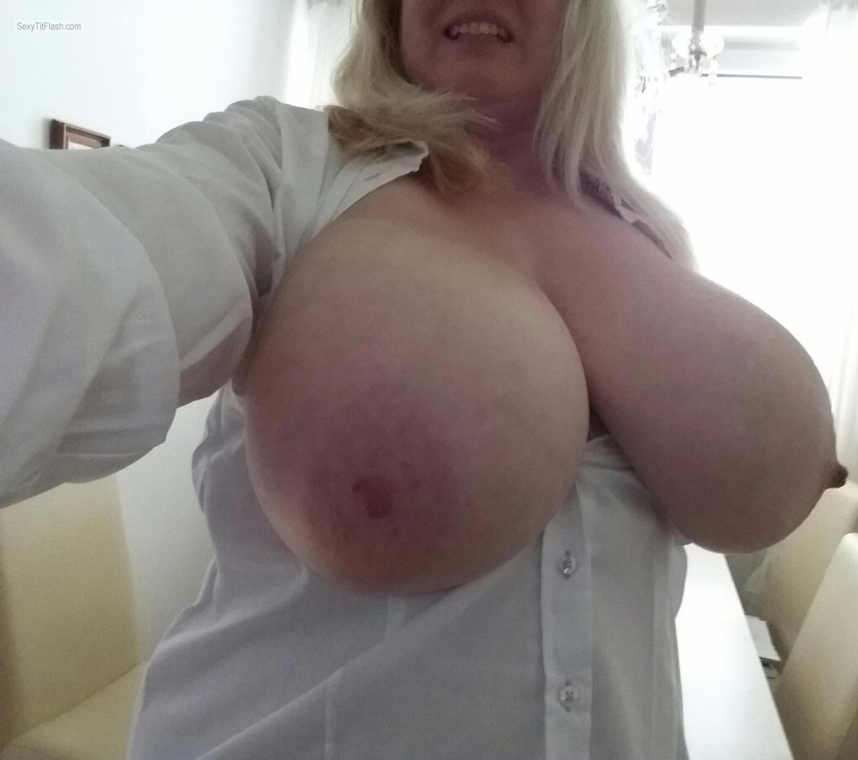My Very big Tits Topless Selfie by Hot Babe