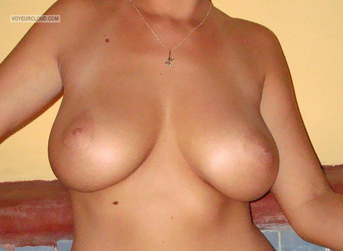 Tit Flash: Wife's Big Tits - Kas from United States
