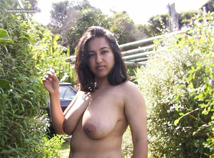 Tit Flash: Very Big Tits - Topless SUJA from India