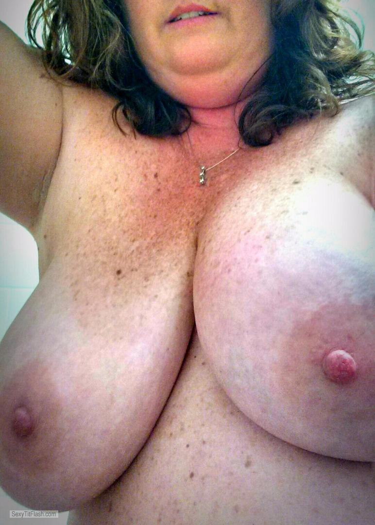 Tit Flash: My Very Big Tits (Selfie) - Katherine from United Kingdom