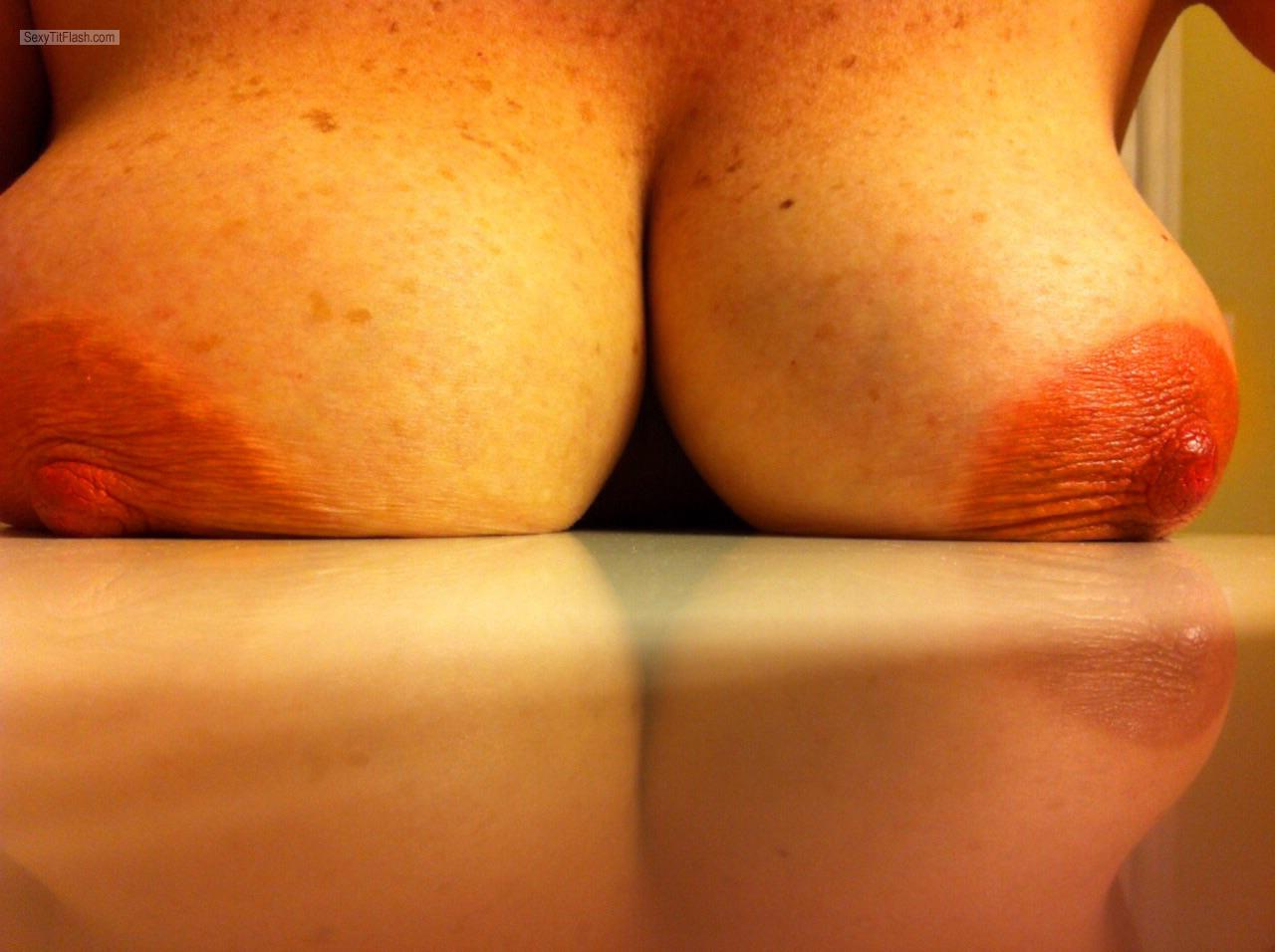My Very big Tits Selfie by Areola Hangers