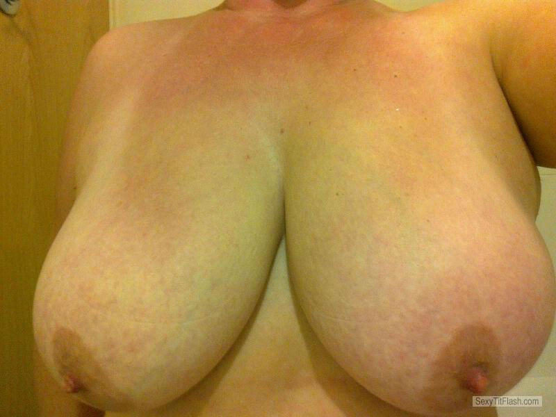 Tit Flash: Wife's Very Big Tits (Selfie) - SWEAR from United Kingdom