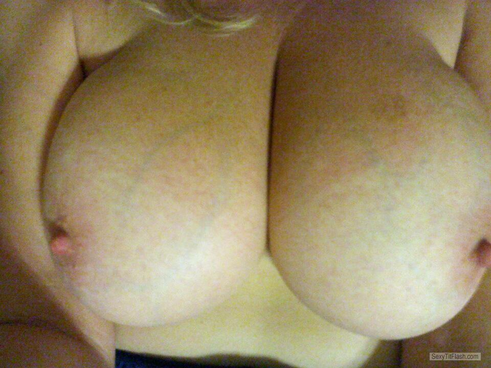 Tit Flash: My Friend's Very Big Tits - Kitty Cat from United States