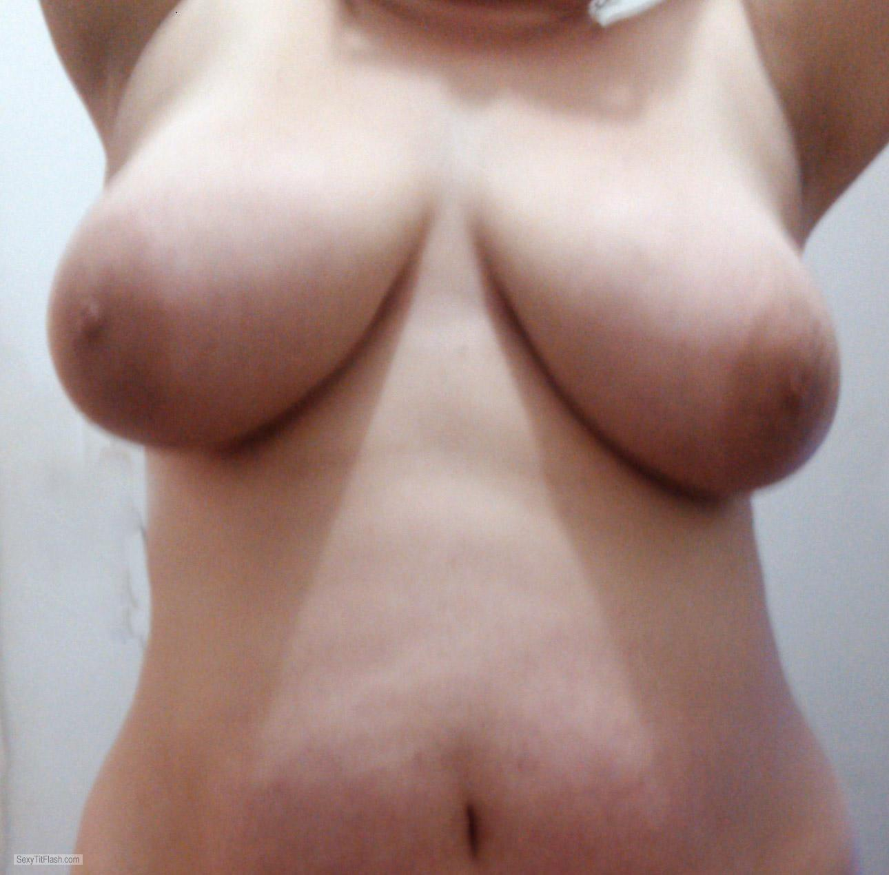 Tit Flash: Wife's Big Tits With Very Strong Tanlines - Love Tits from United States