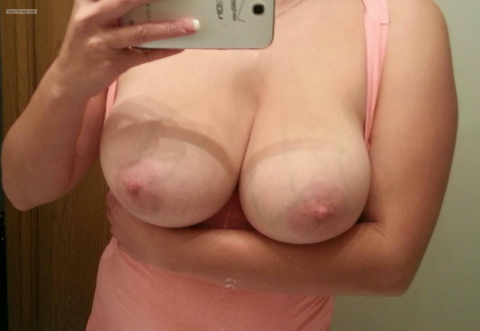 Big Tits Of My Wife Selfie by 38DDD