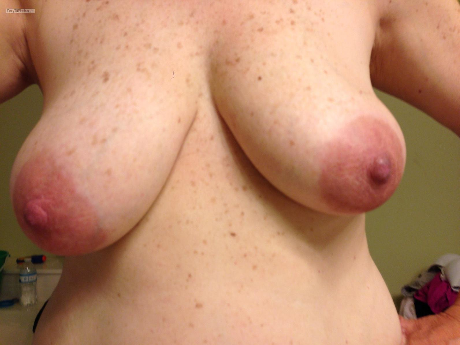Tit Flash: My Medium Tits (Selfie) - Kimmy from Australia