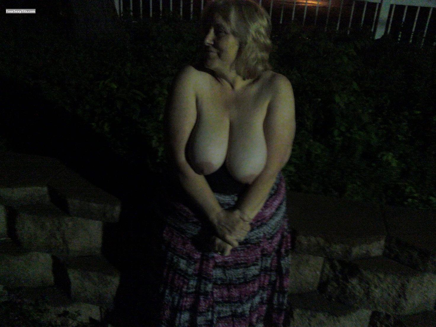 Tit Flash: Wife's Very Big Tits - Pablo's from United States