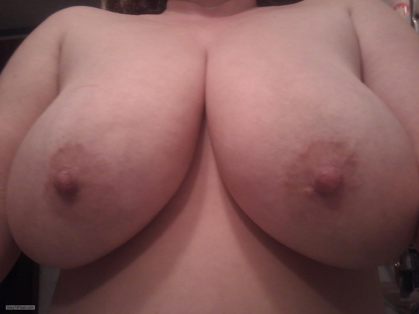 Very big Tits Of My Wife Selfie by DDD's Hanging....