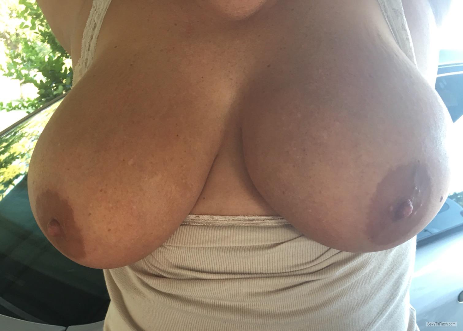 Tit Flash: My Very Big Tits - Topless Bigtits71 from United States