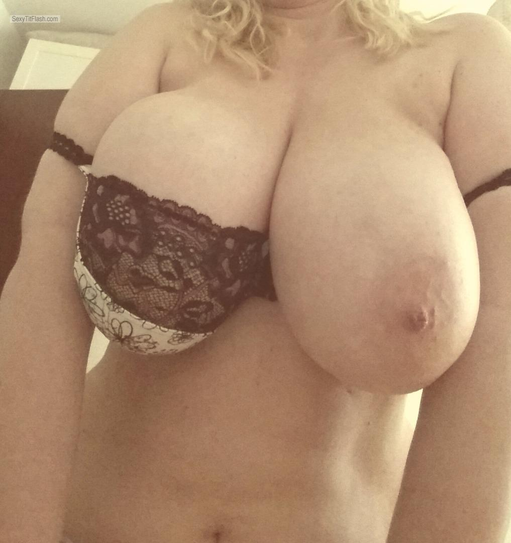 Tit Flash: My Very Big Tits (Selfie) - Topless Hot Babe from Austria