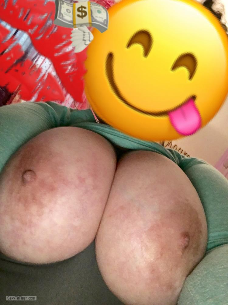 My Very big Tits Topless Selfie by Jessica