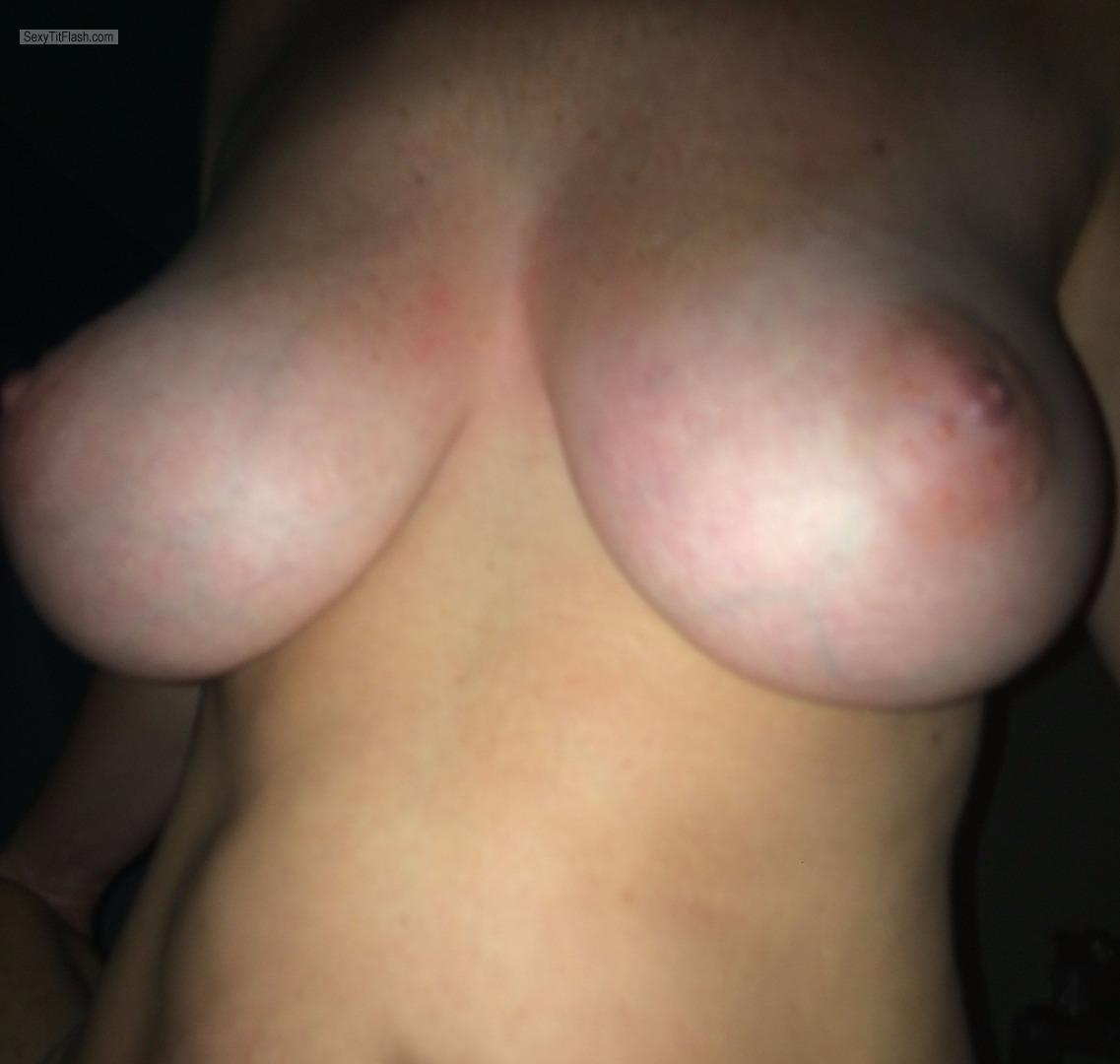 Tit Flash: Wife's Tanlined Very Big Tits - Hot Wife 34DD from United States
