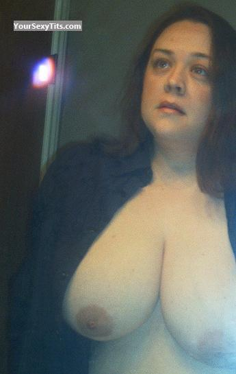 Tit Flash: My Very Big Tits (Selfie) - Topless Josephine61 from United States