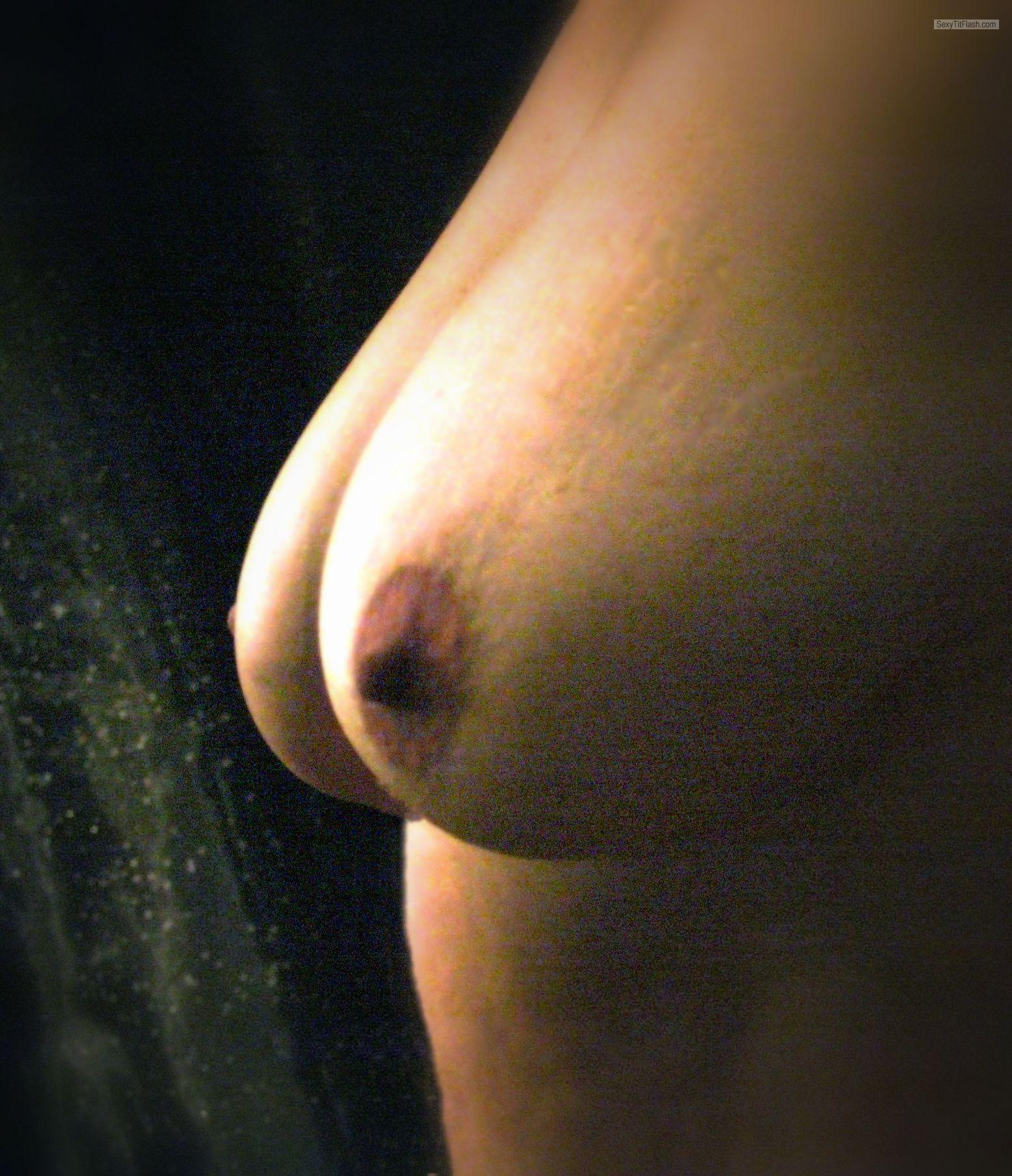 Tit Flash: Girlfriend's Very Big Tits - Dobbie from United States