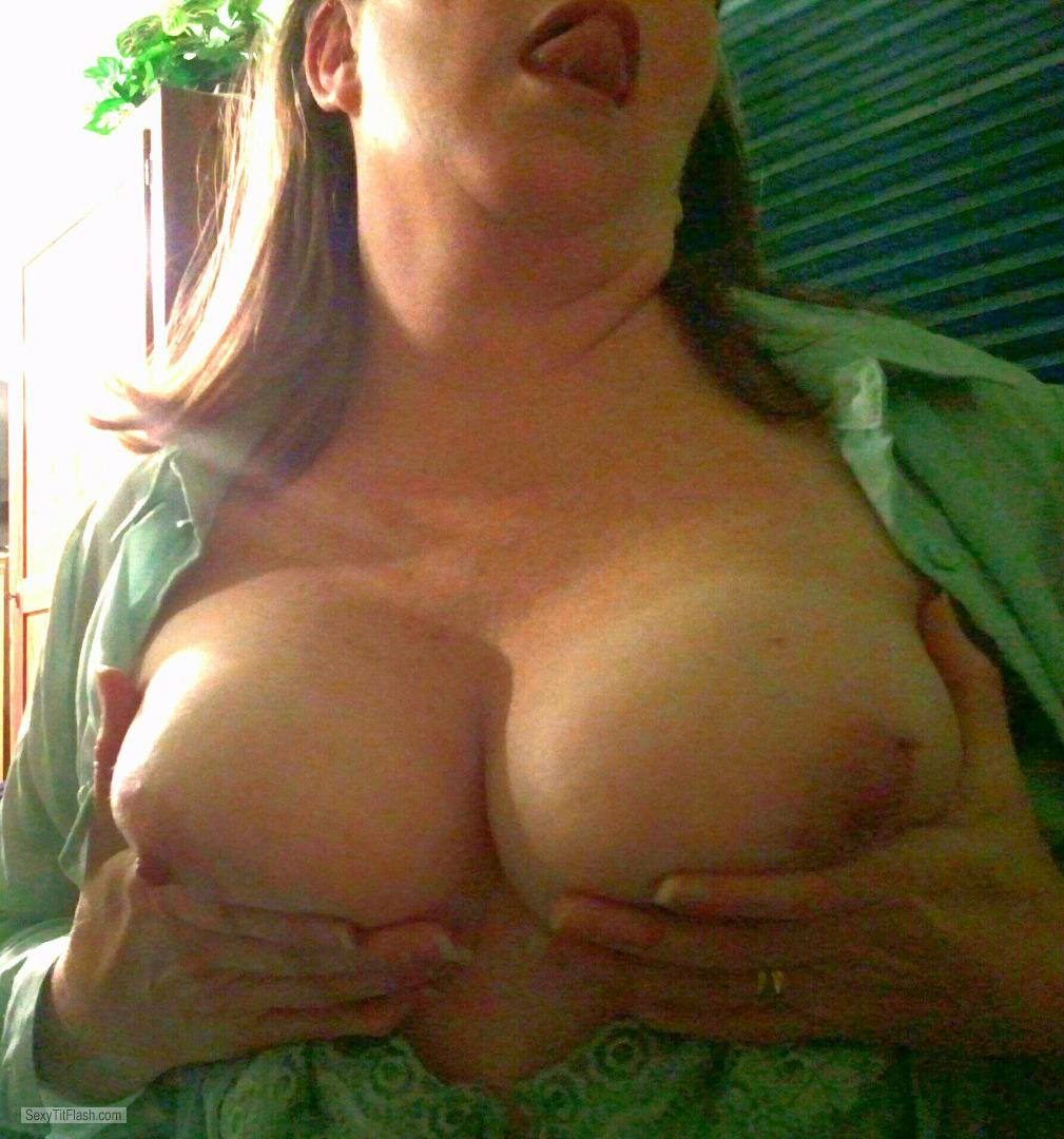 Very big Tits Of My Wife Topless Selfie by Slut Wife