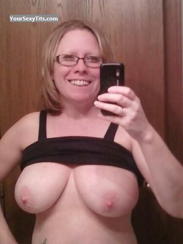 Tit Flash: My Very Big Tits (Selfie) - Topless Debbie from United States