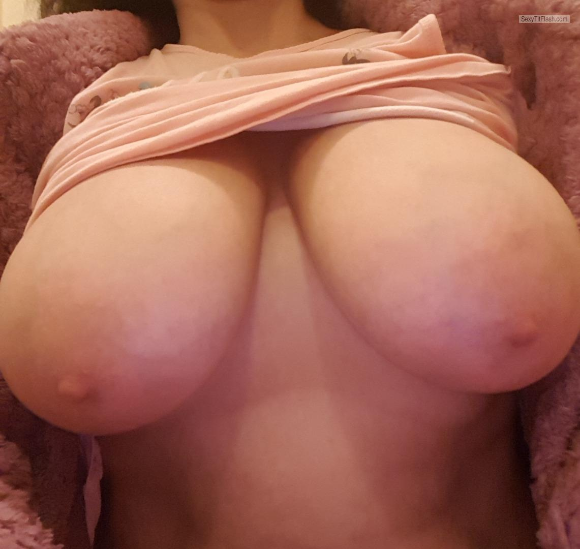 Tit Flash: My Very Big Tits (Selfie) - Mksbitch from United Kingdom
