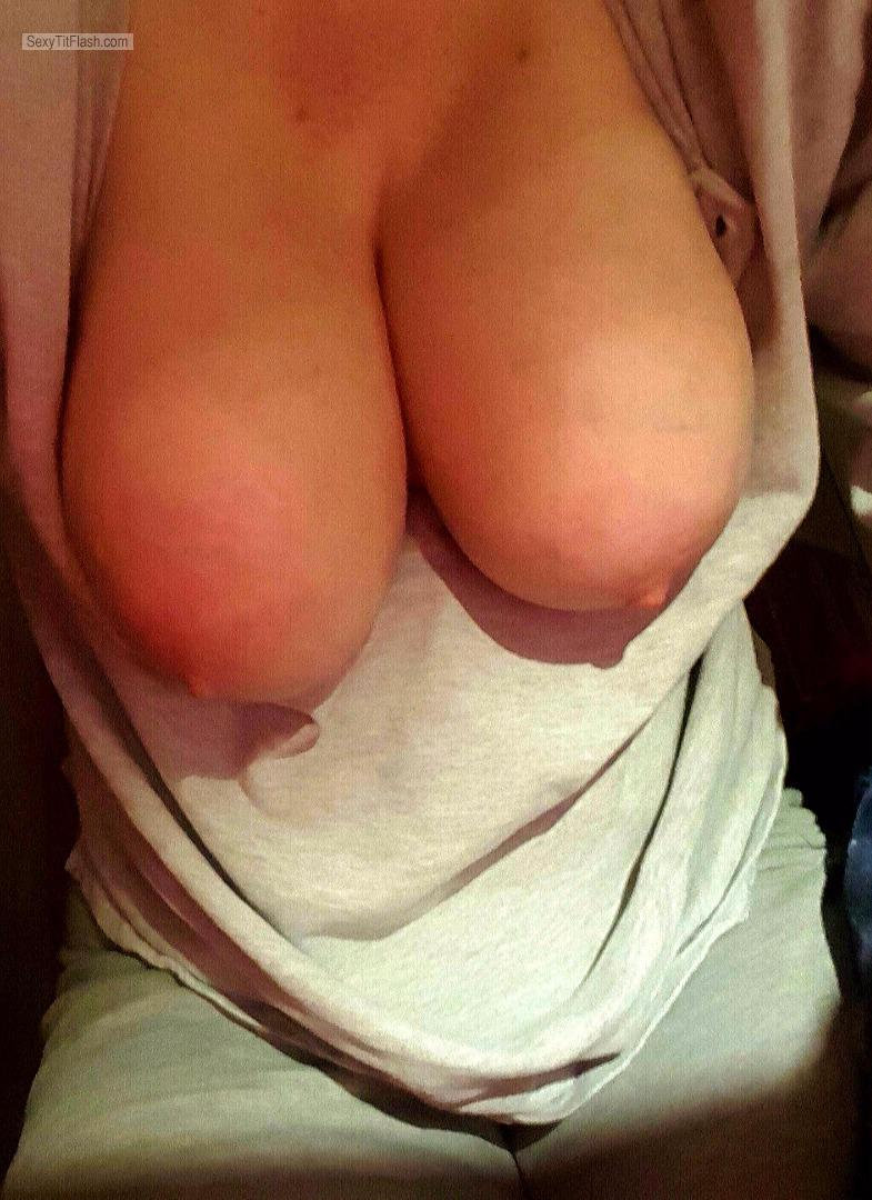 Tit Flash: My Very Big Tits (Selfie) - Crazyboobd from United States