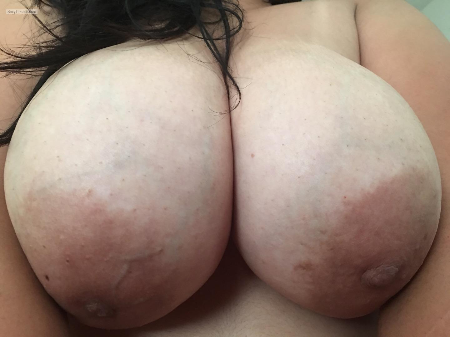 Very big Tits Of My Wife Natural Latin Boobs