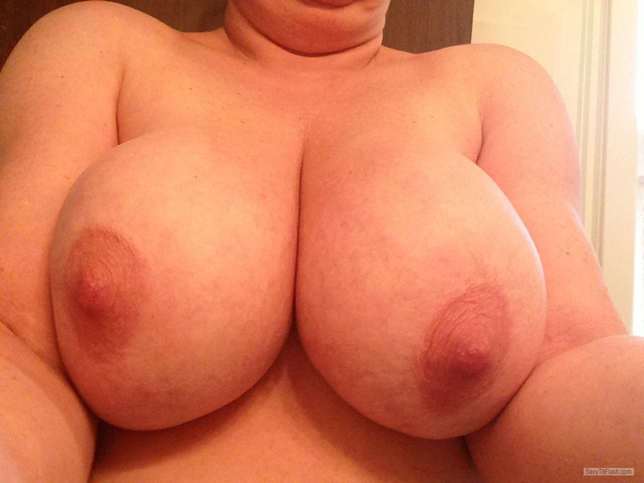 Very big Tits Of My Wife Selfie by Jen