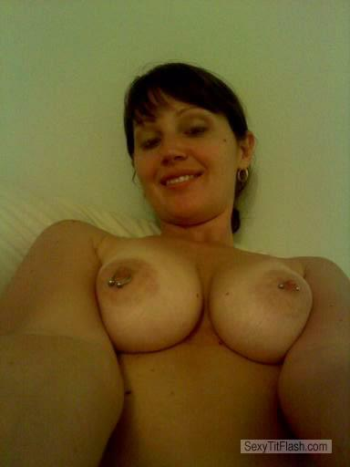 Very big Tits Of A Friend Topless Selfie by Funbags