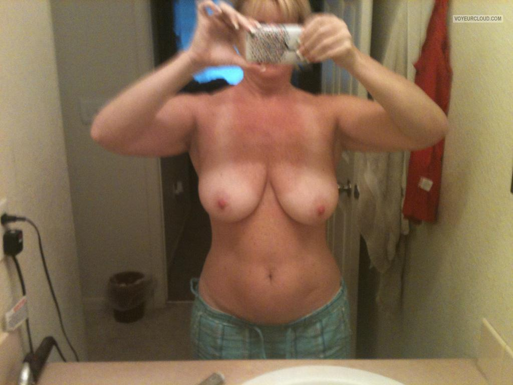 Medium Tits Of My Wife Selfie by Blonde Wife