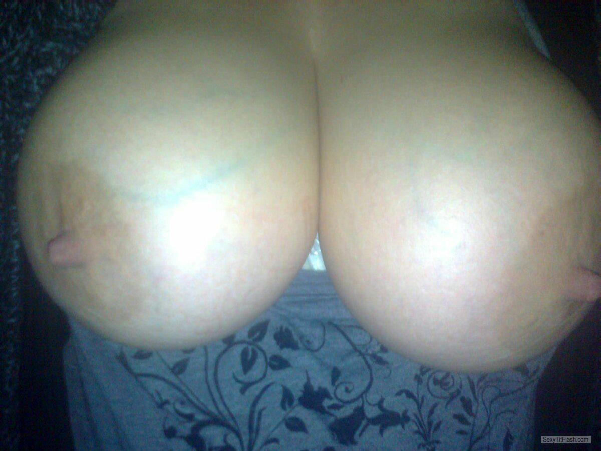 Tit Flash: My Very Big Tits (Selfie) - Bullet Nips from United Kingdom