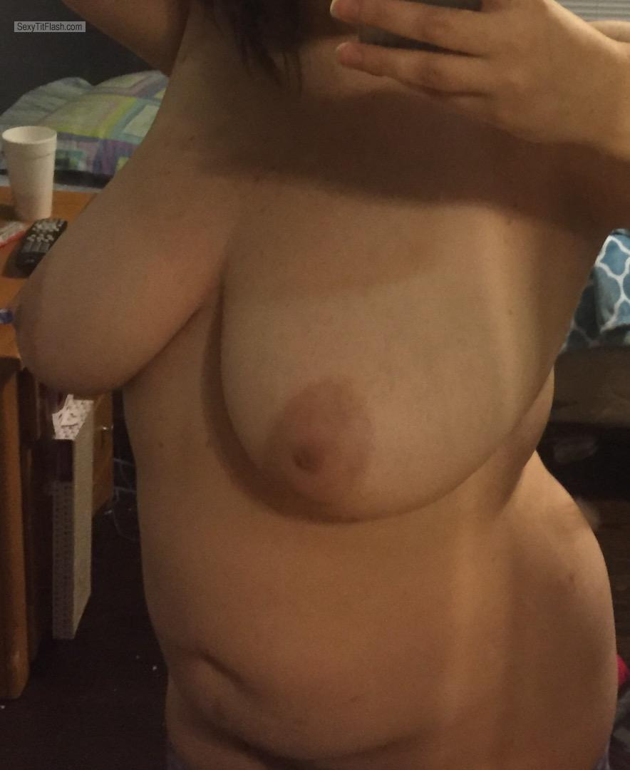 Tit Flash: My Very Big Tits (Selfie) - Cleavagequeen from United States